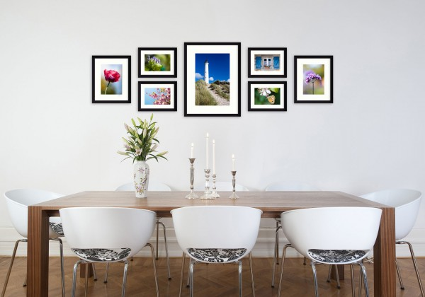 Fotomuur - SecaDesign Gallery 7 fotokaders - zwart