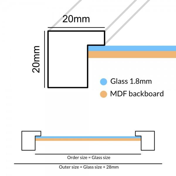 Houten fotokader Anima lichtgrijs