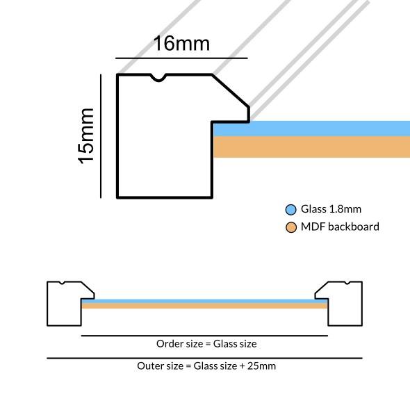 Houten fotokader Linea lichtbruin