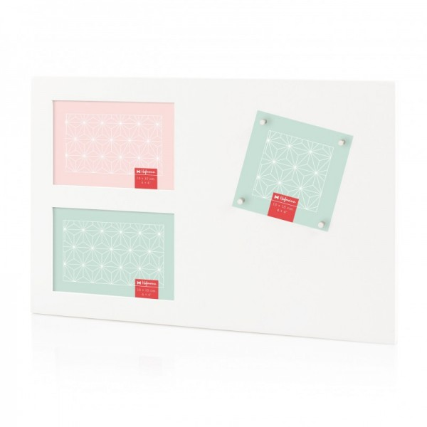 Multi fotolijst met magneten - wit