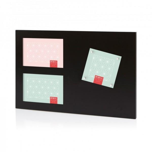Multi fotolijst met magneten - zwart