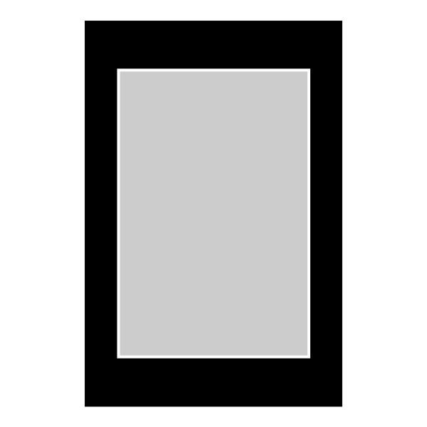 Passe-partout zwart - buitenmaat 40x60cm - fotomaat 30x45cm