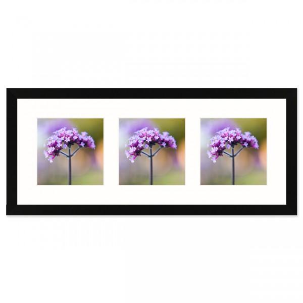 Fotolijst Anima - drieluik 13x13 cm - zwart