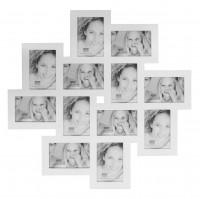 Multi fotolijst - twaalf 10x15cm foto's - wit