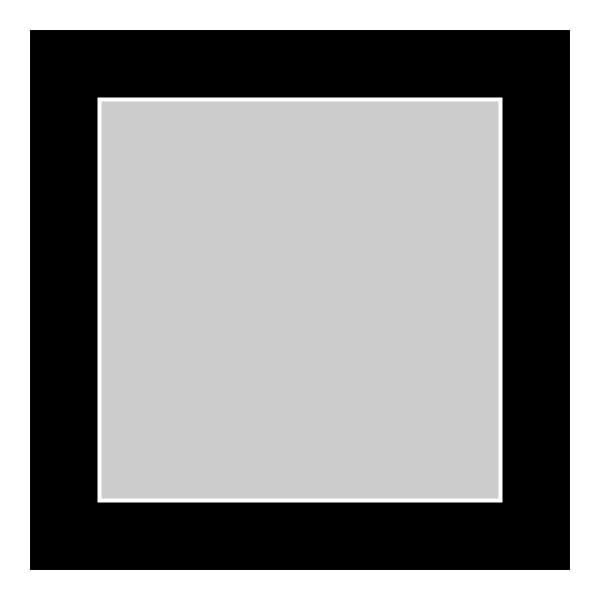 Passe-partout zwart - buitenmaat 40x40cm - fotomaat 30x30cm