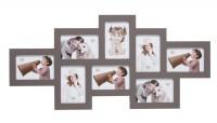 Multi fotolijst - acht 10x15cm foto's - taupe