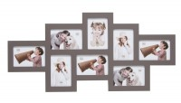 Multi fotokaders - acht 10x15cm foto's - taupe