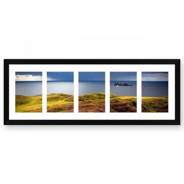 Fotolijst Anima - vijfluik 10x15 cm - zwart