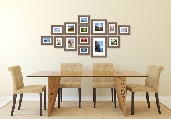 Fotomuur - 14 fotolijsten - SecaDesign Forest Gallery 1 - Grijs