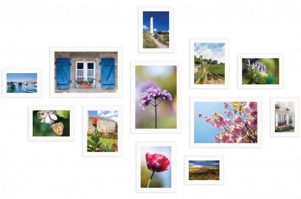 fotowand 12 fotolijsten Piazza wit