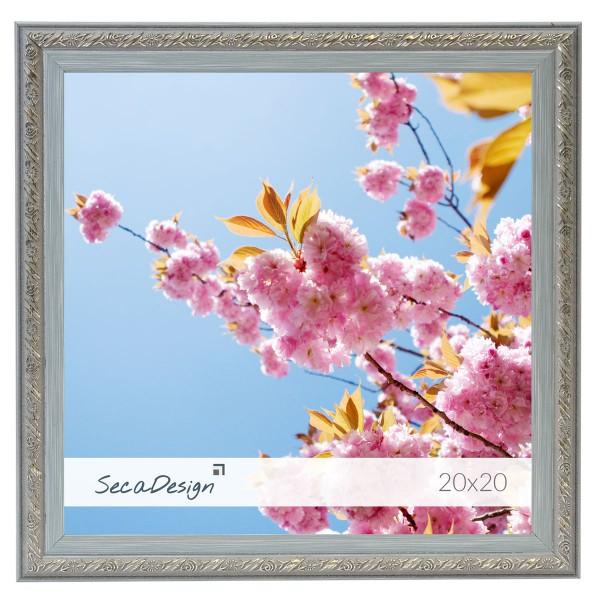 vierkante blauwgrijs fotolijst