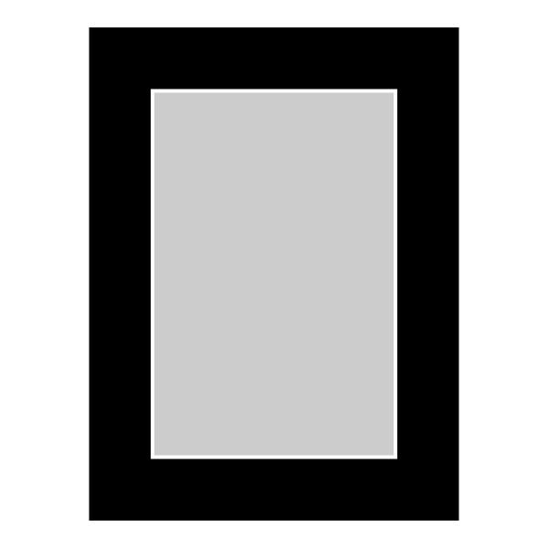 Passe-partout zwart - buitenmaat 30x40cm - fotomaat 20x30cm